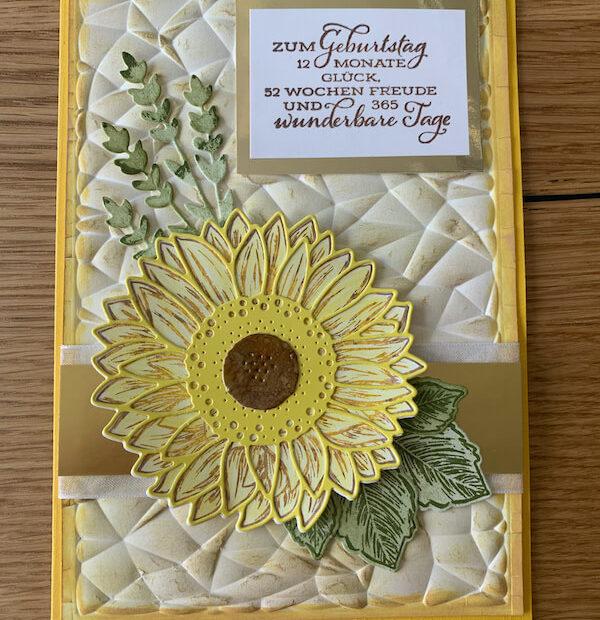 Geburtstagskarte Gute Laune Gruss gelb