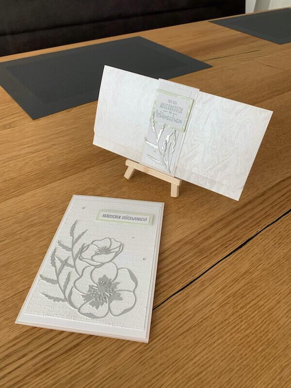 Hochzeitskarte und Gutscheinverpackung