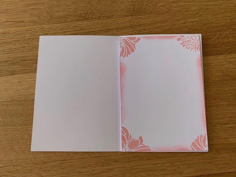 Karteneinlage Dankeskarte
