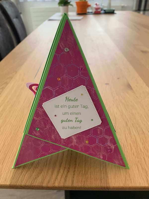 Triangle Karte pink Spruch