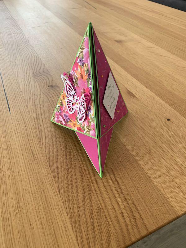 Triangle Karte pink stehend
