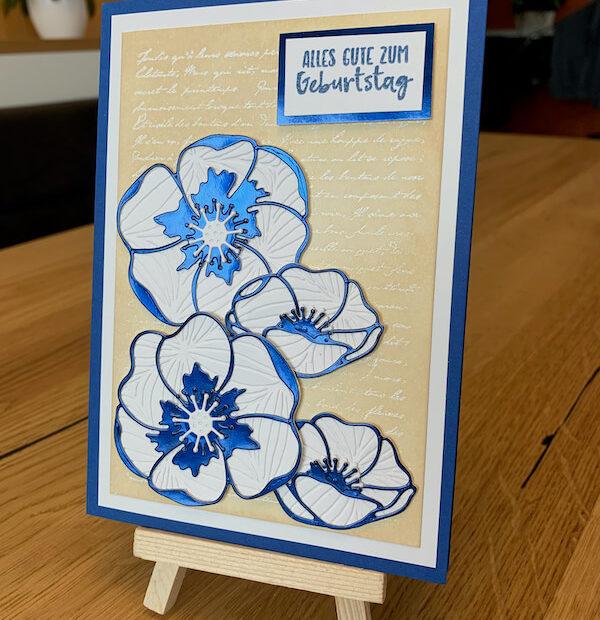 Geburtstagskarte Mohnblüten
