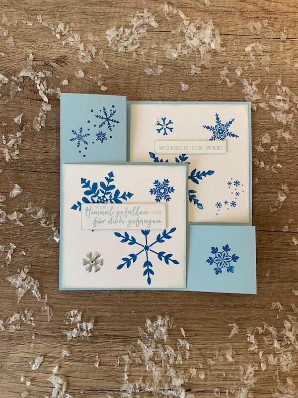 Treppenkarte-blau