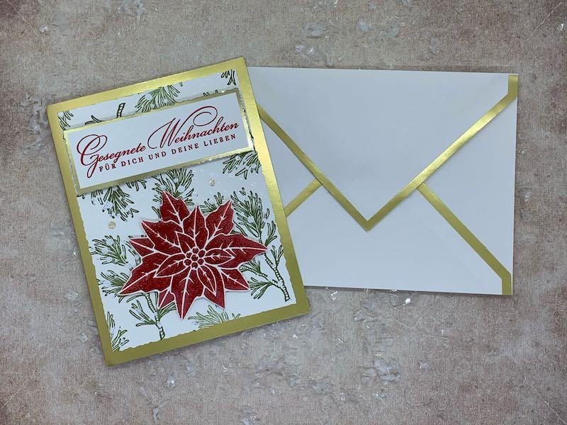 Weihnachtskarte_Weihnachtsstern_Zweige