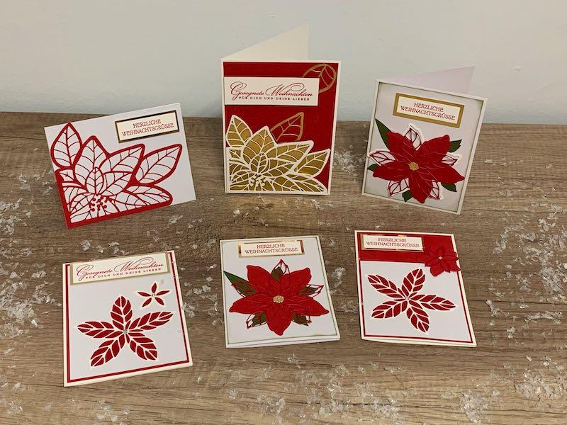 Weihnachtskarten Weihnachtssterne