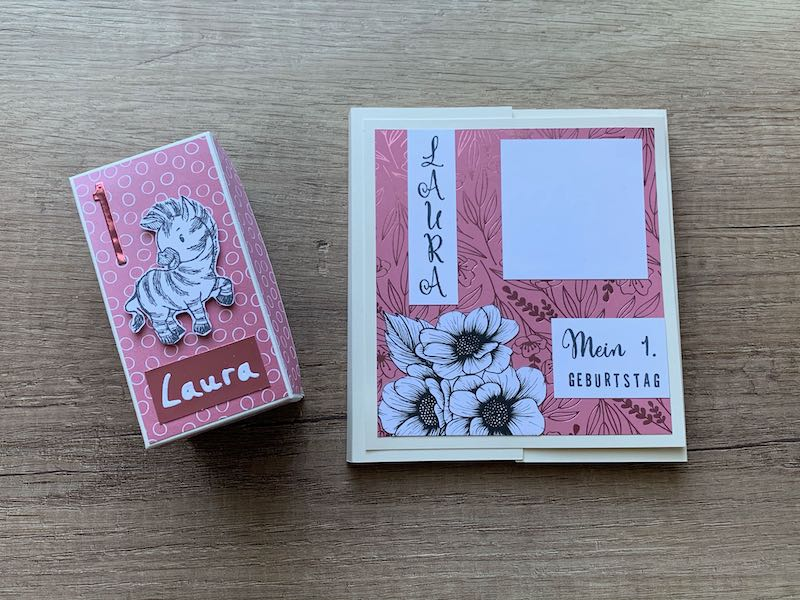 Raupenkartenbox+Mini-Album