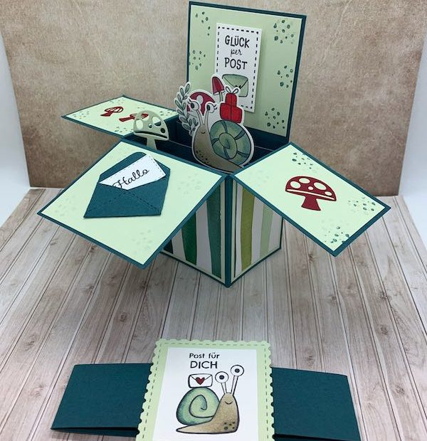 Card-in-a-Box_Schneckenpost_offen-mit-Banderole
