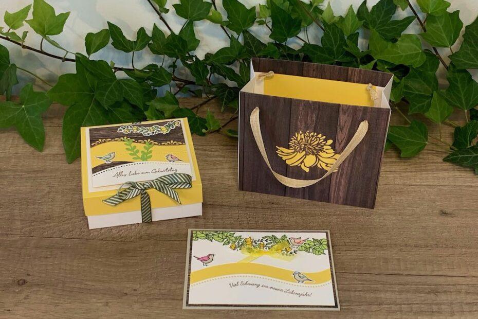 Geburtstagsset_Schön-schwungvoll_Gelb-Holzdesign