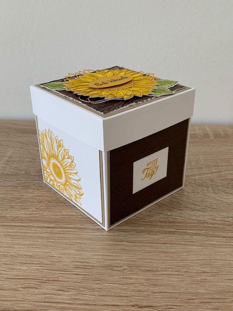 Explosionsbox_Geburtstag_Sonnenblumen